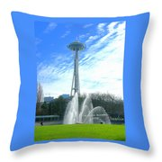 Twirling Water Throw Pillow
