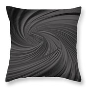 Twist To Black  - Black And Gray Art Throw Pillow