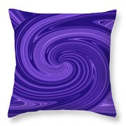 Twisted Blues Throw Pillow