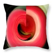 Twisted Calla Throw Pillow