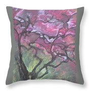 Twisted Cherry Throw Pillow
