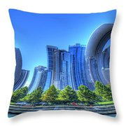 Twisted Chicago Skyline Throw Pillow