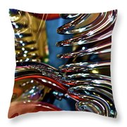 Twisted Chrome Throw Pillow