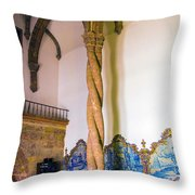 Twisted Columns Throw Pillow