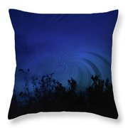 Twisted Dusk Throw Pillow