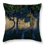 Twisted Early Morning Shadows Throw Pillow