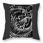 Twisted Gears Abstract Throw Pillow