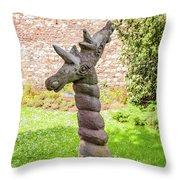 Twisted Giraffe - Colmar France Throw Pillow