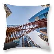 Twisted Horn Throw Pillow