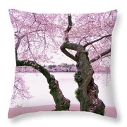 Twisted In Bloom Throw Pillow