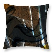 Twisted Metal Throw Pillow
