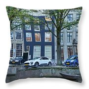 Twisted Panorama. Amsterdam Throw Pillow