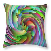 Twisted Rainbow 2 Throw Pillow