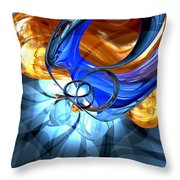 Twisted Spiral Abstract Throw Pillow
