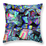 Twisted Text And Colors Throw Pillow
