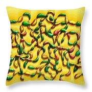 Twisted Vines On Yellow Throw Pillow
