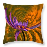 Twisted Waterlily Throw Pillow