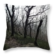 Twisted Woods Throw Pillow