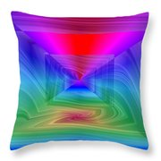 Twister In A Prism Throw Pillow