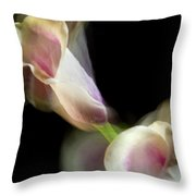 Twisting Cala Lily One Throw Pillow