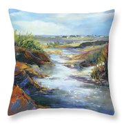 Twists And Turns Near Johnson City Throw Pillow