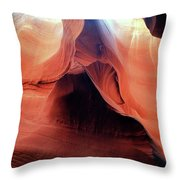 Twists And Turns, The Shape Of Time Throw Pillow