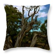 Twists In Color Throw Pillow