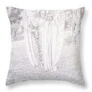 Two Angels, 1904  Throw Pillow