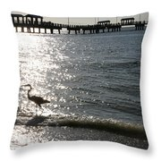 Two Anglers At Fort De Soto Throw Pillow