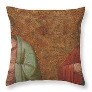 Two Apostles   Fragment Of Predella   Throw Pillow
