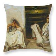 Two Arab Women Throw Pillow