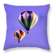 Two Balloons In The Clear Blue Sky  Throw Pillow