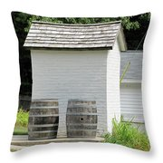 Two Barrels Throw Pillow