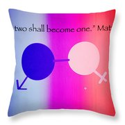 Two Become One Throw Pillow by Raul Diaz