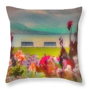Two Benches Throw Pillow