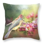 Two Birds Admiring The View Throw Pillow