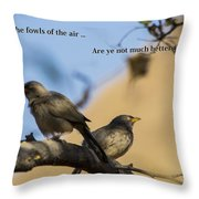 Two Birds Throw Pillow
