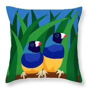 Two Birds Sharing A Branch Throw Pillow