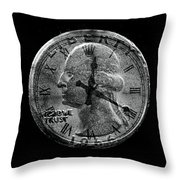 Two Bits For Your Time Throw Pillow