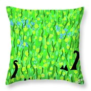 Two Black Cats Throw Pillow