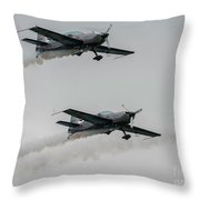 Two  Blades Extra Ea-300 Planes Throw Pillow