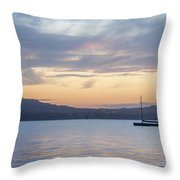Two Boats In Blue Holywood Throw Pillow