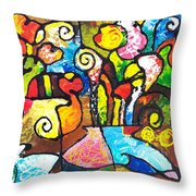 Two Bouquets Throw Pillow