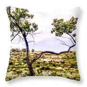 Two Branches Throw Pillow