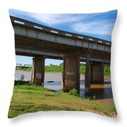 Two Bridges Throw Pillow