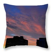 Two Buildings And Sky  Throw Pillow