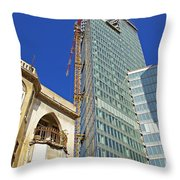 Two Buildings.. Throw Pillow