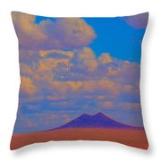 Two Butte Colorado Revisited Throw Pillow