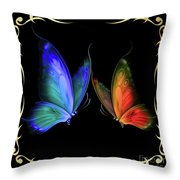 Two Butterflys -4 Throw Pillow