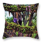 Two Buzzards In A Tree Throw Pillow